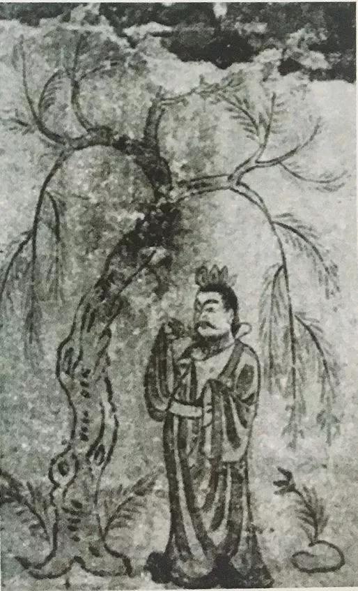 ▲山西太原金胜村4号唐墓墓室第1幅屏风画