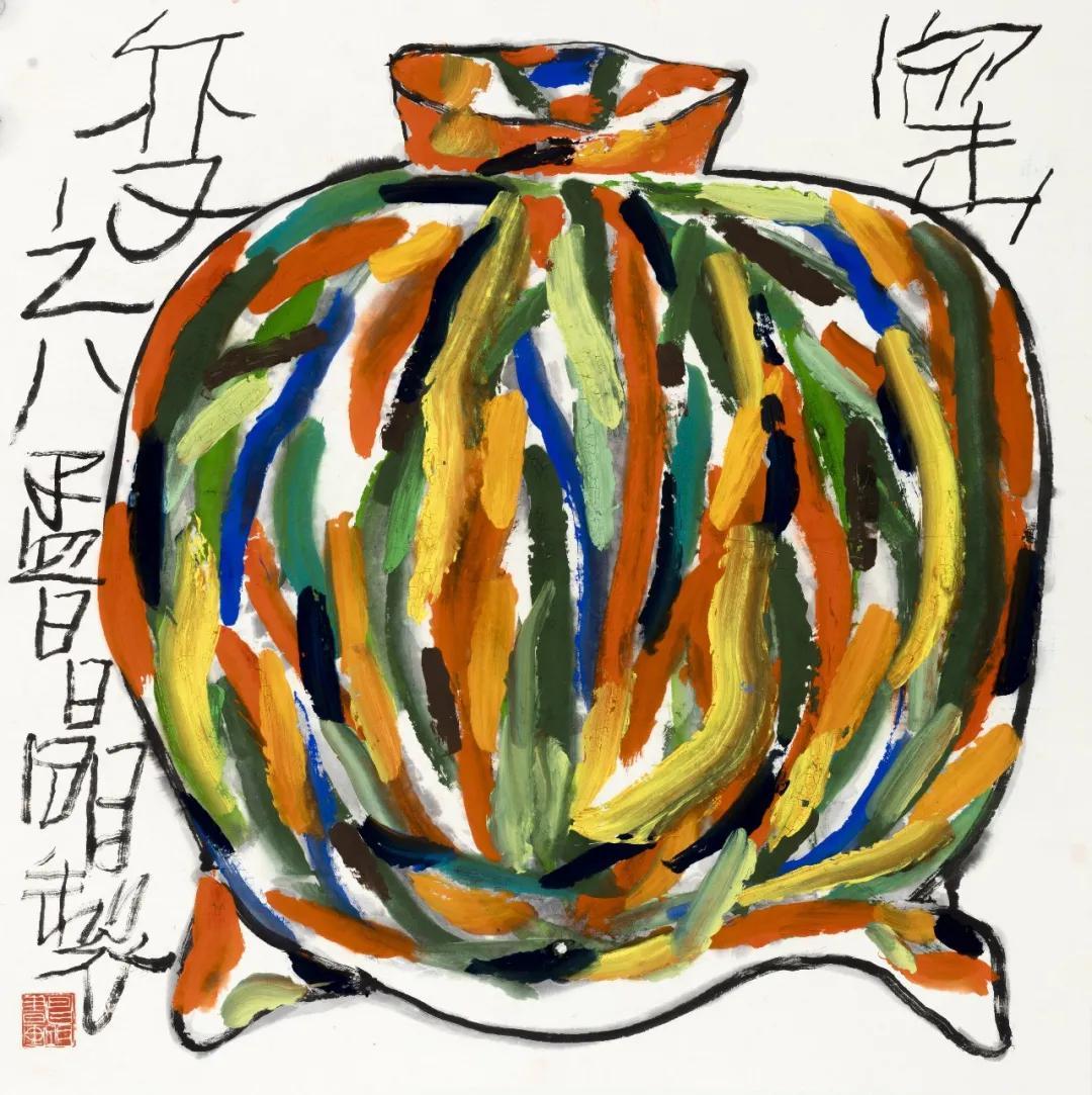 《窑变》之八 68×68cm 2017年(上海海平面文化艺术有限公司收藏)