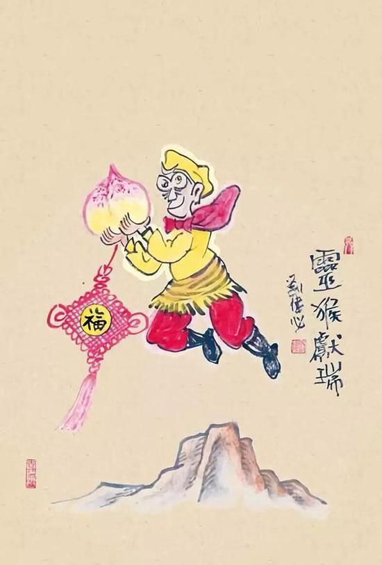 刘伟生肖手绘明信片