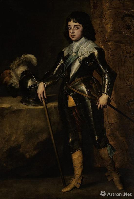 凡·戴克爵士《威尔士亲王查理二世肖像(1630–1685年)》262万英镑