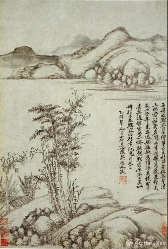 吴历 仿古山水册之六 南京博物院藏