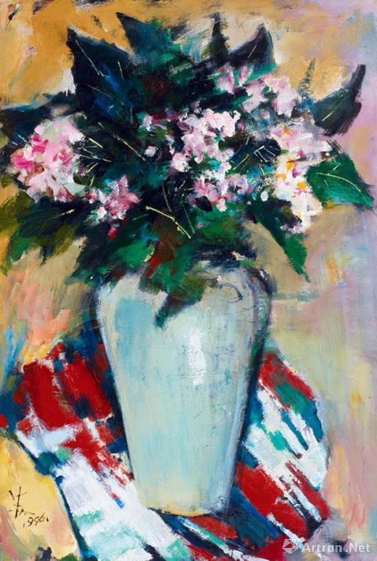 苏天赐《夏日的瓶花》1996年 成交价:408.25万元