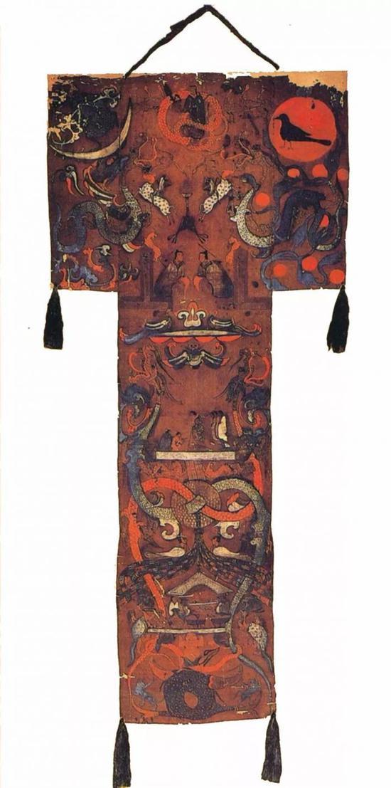 ▲《长沙马王堆一号汉墓帛画》