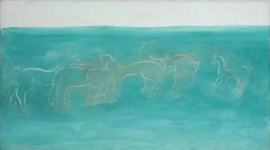 北京保利——常玉《草原上的马群》
