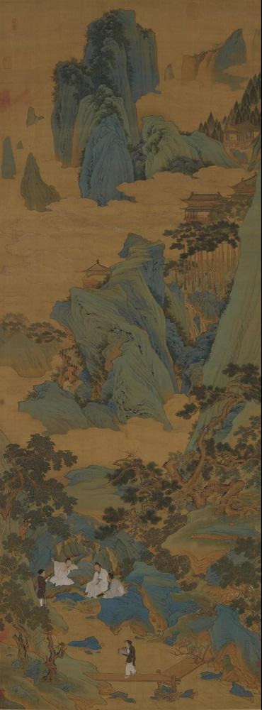 明代 仇英《桃源仙境图》天津博物馆藏