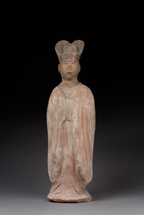 彩绘陶文官俑 1955年陕西省西安市高楼村出土 陕西历史博物馆藏
