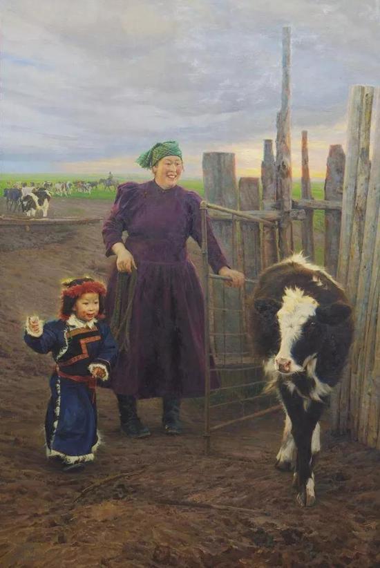 牧童的歌声 布面油画 194X130cm 2012年