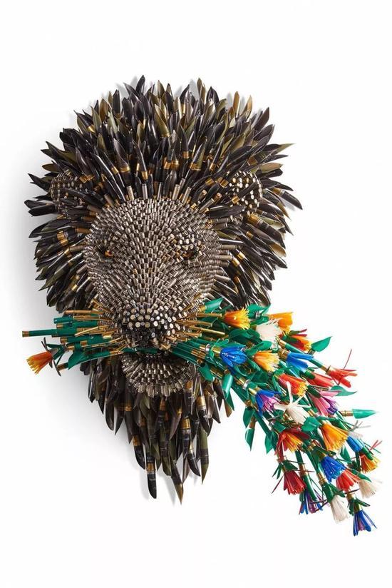 铅笔构造的创意雕塑