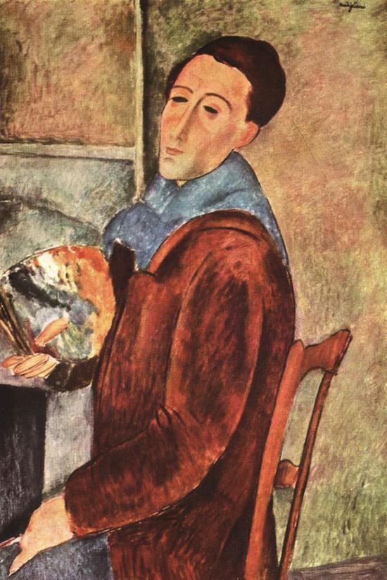 莫迪里阿尼 自画像