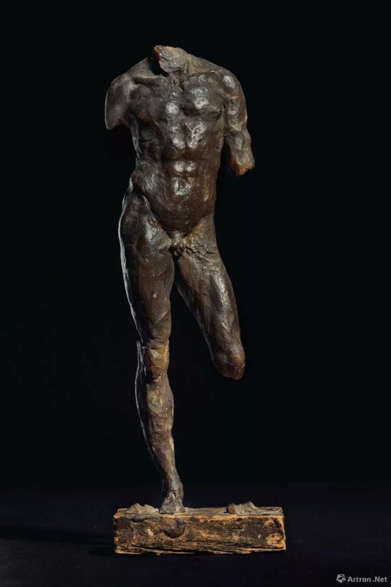 站立的男子雕塑蜡稿,或为凯撒大帝 高 29.2 cm。