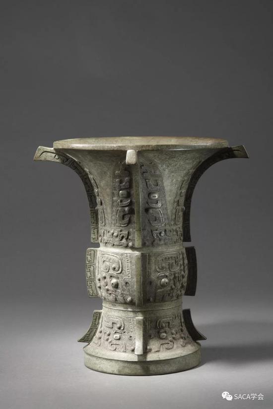 ▲隹父癸尊,商代晚期,5.57kg,上海博物馆藏