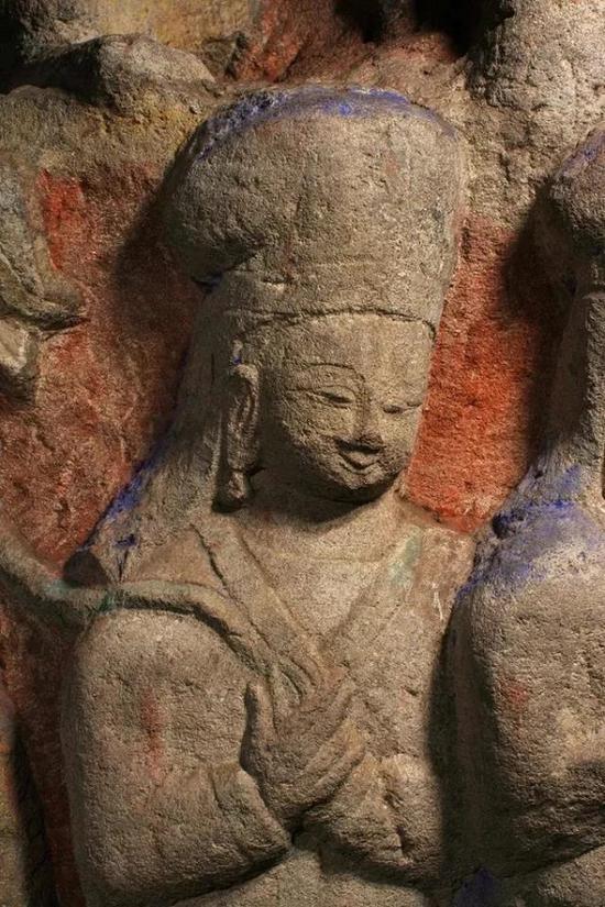 云冈第12窟中的女性鲜卑人肖像