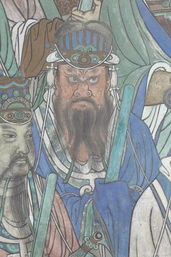 山西省永乐宫壁画保护研究院 临摹临摹三清殿东壁 扶桑大帝局部 4.76×1.95m