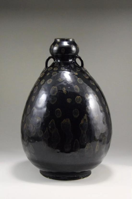 磁州窑黑釉鹧鸪斑双系瓶