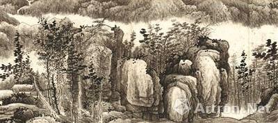 《千岩万壑图》卷局部 龚贤