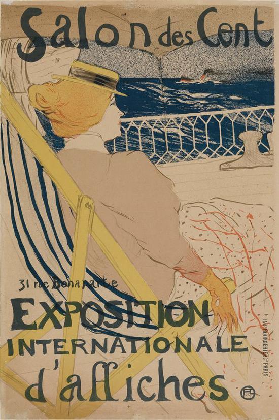54号房间的旅客在游船上 1895年 石版画