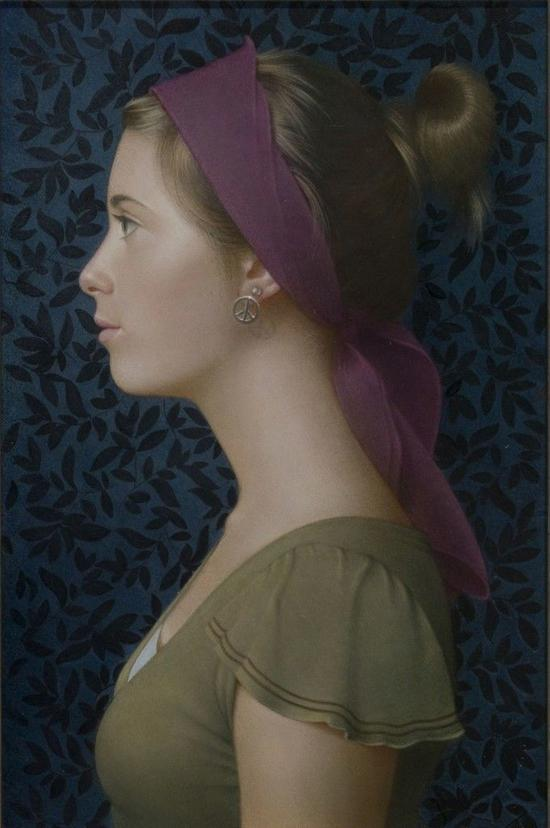 Koo Schadler, Girl in Profile, Purple Headband J。 Cacciola Gallery
