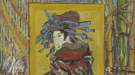 梵高,日本情趣:花魁 Courtesan,1887,阿姆斯特丹梵高美术馆馆藏