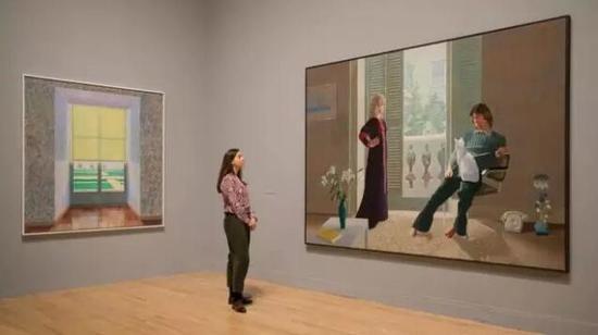 大卫·霍克尼2017年泰特美术馆回顾展现场?AFP/Getty Images