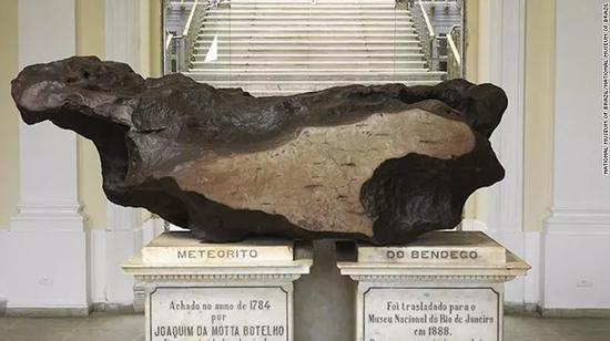 世界上最大的陨石:渥拉斯顿环形山陨石,1784年发现,重达5.36吨。