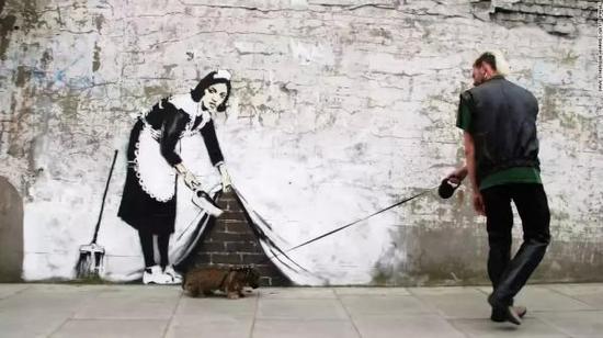 班克西街头涂鸦作品