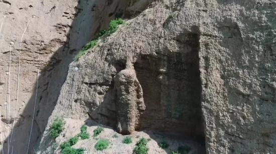 甘肃武威天梯山石窟第15窟石残像