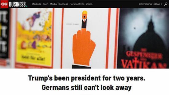 特朗普被画成猿人 多次登上德国杂志封面