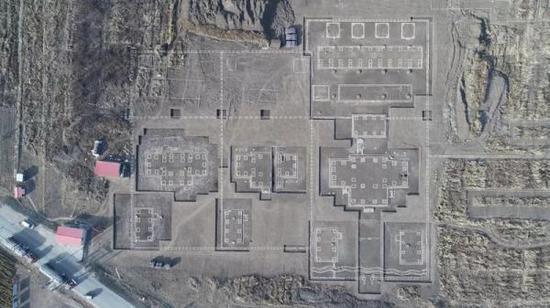太子城遗址北区1、2、3号院平面图