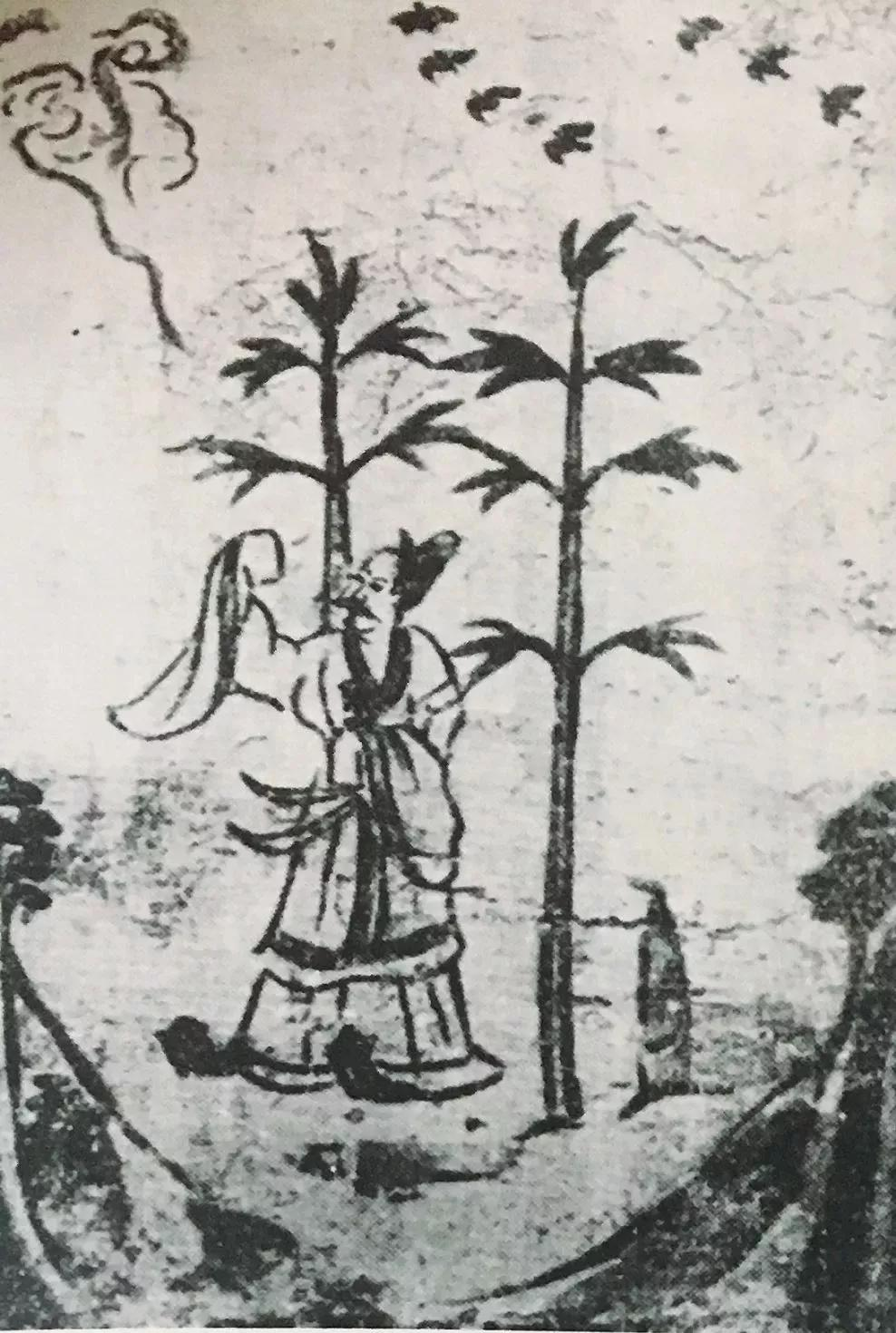 ▲山西太原金胜村6号唐墓墓室第6幅屏风画