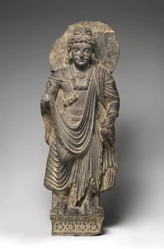 弥勒菩萨立像,约3世纪,美国大都会艺术博物馆藏