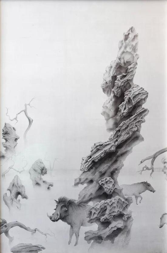 《立冬》 绢本水墨 123x188cm
