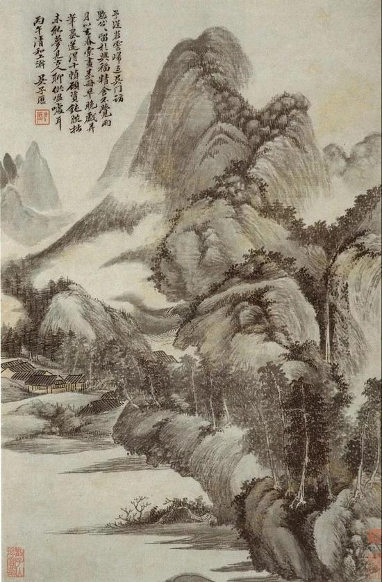 吴历 仿古山水册之七 南京博物院藏
