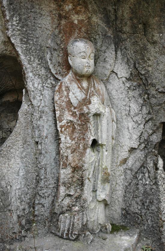 """飞来峰高僧取经组雕第46龛""""唐三藏玄奘法师"""""""
