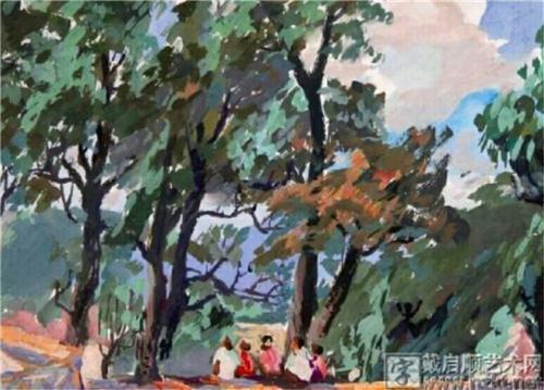1973年9月在通山九宫山的水粉写