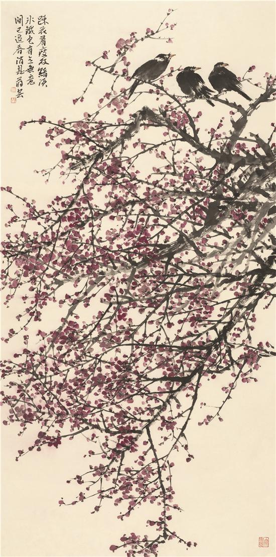 蒋芸《春消息》137×68cm