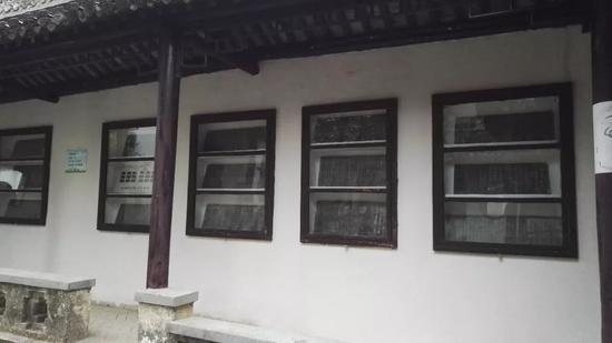 歙县博物馆新安碑园展示的余清斋碑石拓片