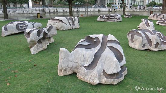 《天象》碑林陆系-a 2016年展于新加坡亚洲文明博物馆