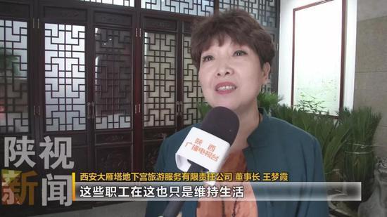 西安大雁塔地下宫旅游服务有限责任公司 董事长 王梦霞