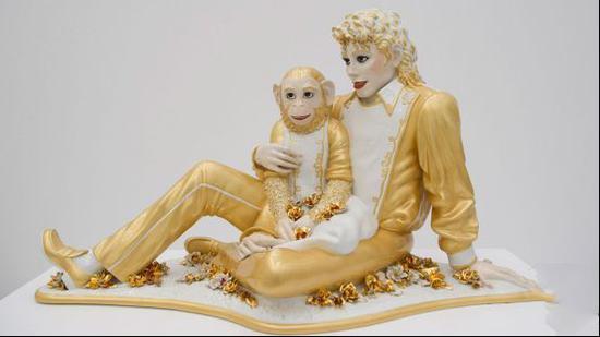 伊莱·布罗德收藏的杰夫昆斯《迈克尔·杰克逊与泡泡》