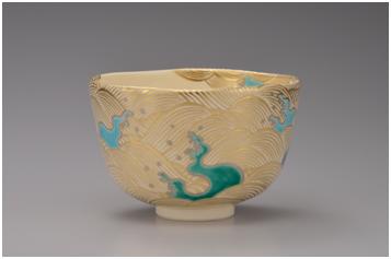 图说:《金彩波茶碗》陶瓷
