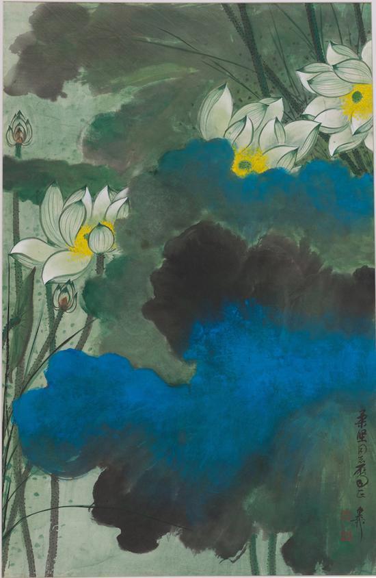 《绿荷》,谢稚柳,中国画