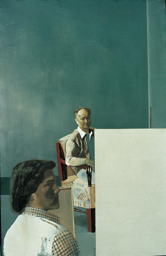 夏葆元《部长与我》186×120cm 布面油画 1986年