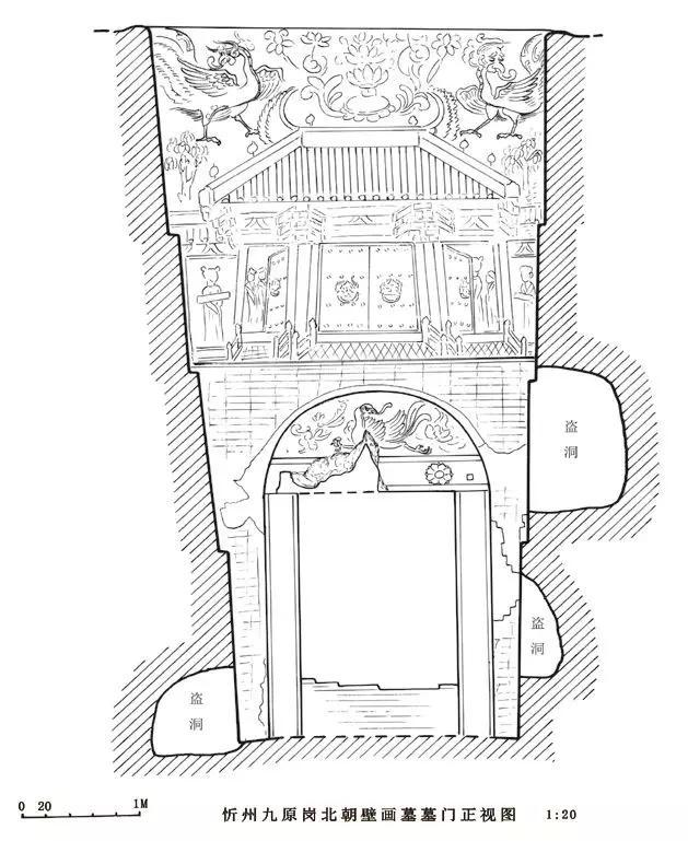 ▲门墙正立面图