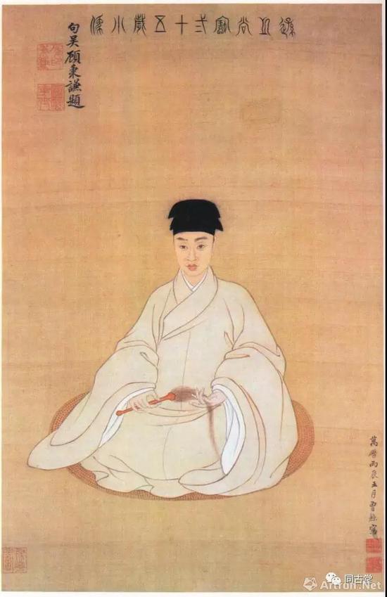 王时敏肖像(1592-1680)曾鲸作 天津市艺术博物馆藏