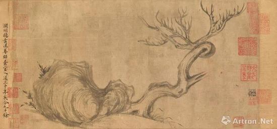 苏轼《木石图》局部