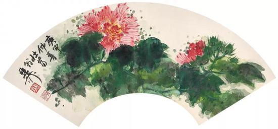 Lot575 谢稚柳(1910-1997) 芙蓉吐艳