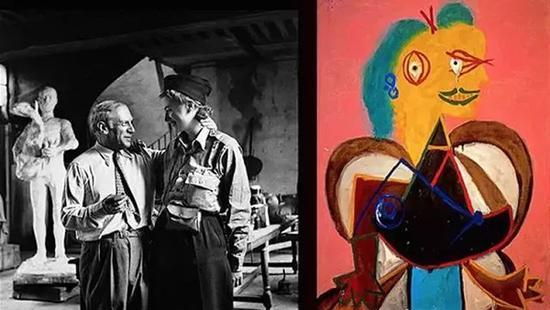 毕加索以她为模特画的作品