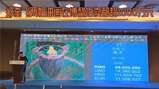 鄭奎飛鄭嘉鈺父女油畫拍賣再次超1000萬元天價