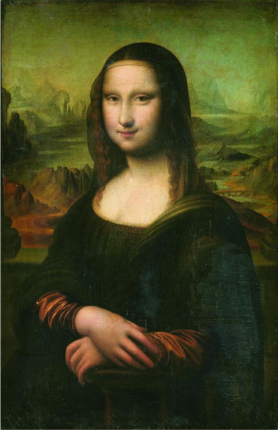 达芬奇的佚名追随者 意大利 蒙娜丽莎的微笑 81x52.5cm 布面油画 16 世纪