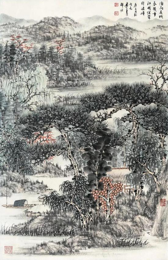 邵琦 源向春城春几重 国画